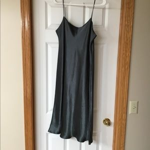 Silky midnight gray color Vince dress